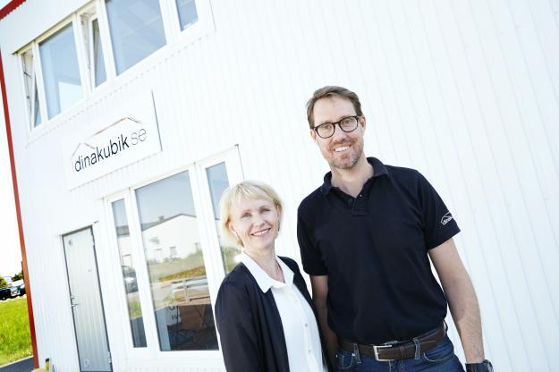 Helena Lundhammar och Henry Lundhammar från Dina Kubik AB.
