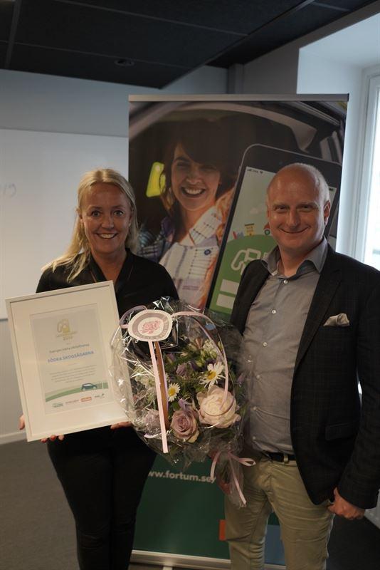 Södra skogsägarna, vinnare av Laddguldet 2019 i de kategorin Sveriges bästa elbilsföretag.