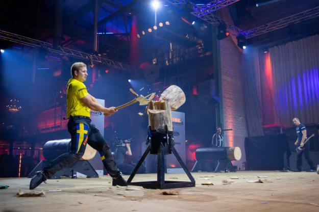 I Standing Block Chop mötte Emil Hansson fransosen Guillaume Maure och båda satte personliga rekord.