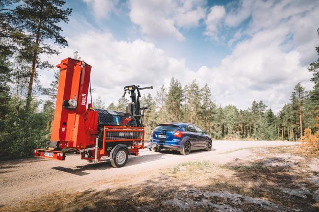 Road-modellen kan utrustas med transportchassi, för att kunna transporteras på väg.
