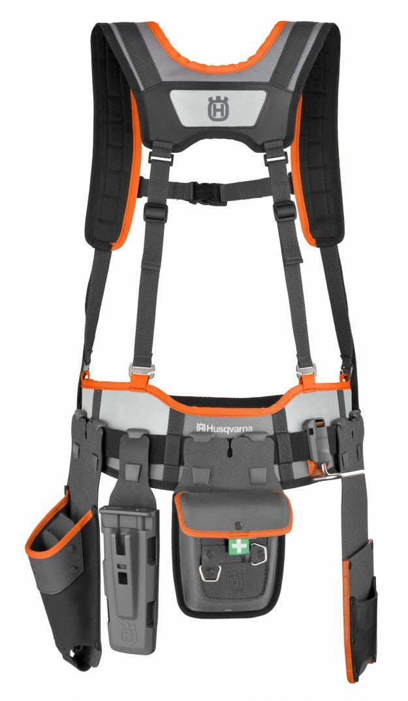 Husqvarnas nya ergonomiska verktygsbälte håller ordning på verktygen så att du alltid har dem till hands.