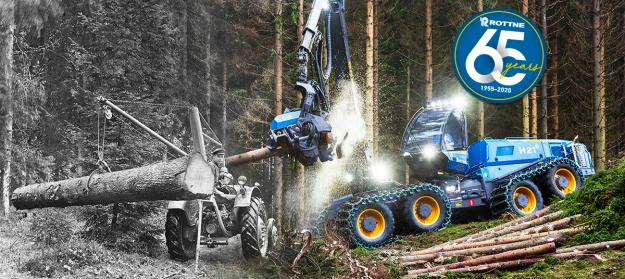 Skogsmaskinstillverkaren Rottne Industri AB fyller 65 år.