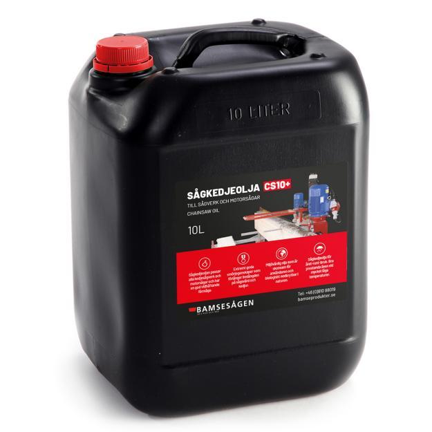 Den nya sågkedjeoljan från Bamseprodukter.