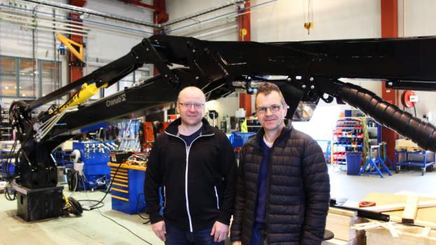 Lars Rudolfsson, Produktionschef Cranab AB, och Anders Strömgren, VD Cranab AB.