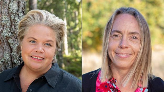 Fr vänster: Lotta Lyrå, vd Södra, och Anna Karlsson, vd Kalmar Energi.