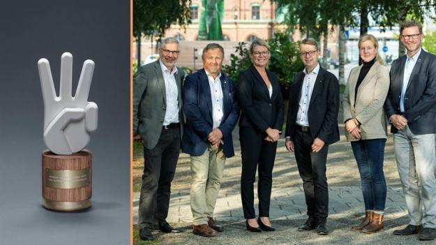 Styrgrupp för bildandet av Norra Skog, från vänster: Olov Söderström,Torgny Hardselius, Maria Broman, Pär Lärkeryd, Charlotta Kristow ochStig Högberg.