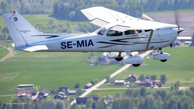 Skogsbrandbevakande flygplan.