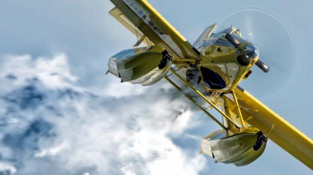 MSB:s skopande flygplan (arkivbild).