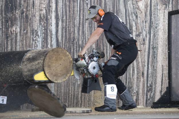 Ferry Svan med en Hot Saw under Nordiska Mästerskapen 2018.