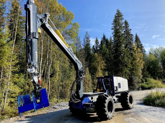 Den självkörande skogsmaskin som konstruerats och byggts vid Luleå tekniska universitet är nu klar och redo att testas i fält.